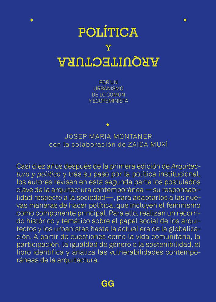 Política y arquitectura - Montaner Josep Maria